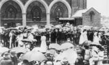 Picture relating to Pittsworth - titled 'Large crowd assembled outside St. Stephen's Church, Pittsworth, 1909'