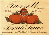 Picture relating to Brisbane - titled 'Tassell Tomato Sauce label'