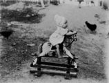 Picture relating to Queensland - titled 'Toddler on a rocking horse, 1900-1910'