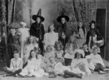 Picture relating to Bowen - titled 'Costume day at St. James' Presbyterian Church Sunday School, Bowen, ca. 1912'