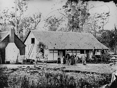 Picture of / about 'Bethania' Queensland - Holzheimer farm at Bethania, Queensland, ca. 1872