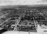 Picture relating to Warwick - titled 'Aerial photograph of Warwick, 1953'