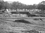 Picture relating to Acton - titled 'Excavation for the foundations of the Australian Institute of Anatomy. McCoy Circle, Acton.'