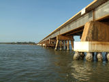 Picture relating to Weipa Mine - titled 'Weipa MiSsion River Bridge'