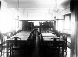 Picture relating to Barton - titled 'Brassey House dining room. Macquariei Street, Barton.'