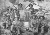 Picture relating to Chillagoe - titled 'Members of the Chillagoe Rifle Club, Chillagoe, Queensland, ca. 1907'
