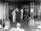 Picture relating to Canberra - titled 'Rt Hon S M Bruce welcoming the Duke and Duchess of York at Canberra Railway Station'