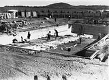 Picture of / about 'Manuka' the Australian Capital Territory - Manuka swimming pool under construction, December 1929.