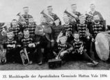 Picture relating to Hatton Vale - titled 'Church brass band at Hatton Vale, Queensland, 1896'