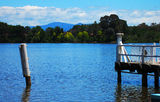 Picture relating to Lake Burley Griffin - titled 'Lake Burley Griffin Paddle Boat Rental Jetty'