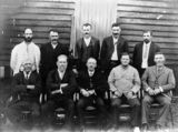 Picture relating to Kilcoy - titled 'Group of businessmen at Kilcoy'