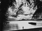 Picture relating to Palm Island - titled 'View of sunset from Palm Island, ca. 1949'