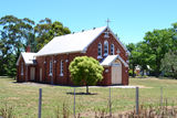 Picture relating to Whorouly - titled 'St Patricks church and reserve in the main street'