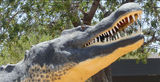 Picture relating to Wyndham - titled 'Big crocodile sculpture Wyndham'