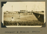 Picture relating to Cunnamulla - titled 'Lawns and clubhouse of the Croquet Club at Cunnamulla, Queensland, 1939'
