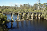 Picture relating to Chichester Range - titled 'Asplin Bridge, Blackwood R. WA'
