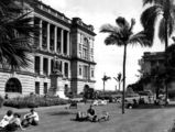 Picture relating to Brisbane - titled 'Lunch hour at Queen's Park, Brisbane, 1949'
