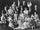 Picture relating to Toowoomba - titled 'Wedding of Michael J. Londy and Angela C. Kalokerinos, Toowoomba, 1932'