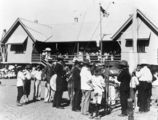 Picture relating to Croydon - titled 'Band playing outside Croydon State School on Trafalgar Day, 1905'