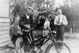 Picture relating to Queensland - titled 'William Henry Beecher and a Malvern Star auto-bike.'