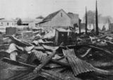Picture relating to Charleville - titled 'Aftermath of a fire at the Fitzwalter store, Charleville, 1905'