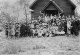 Picture relating to Hivesville - titled 'Opening of the Holy Spirit Church of England, Hivesville, 1932'
