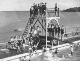 Picture relating to Manly - titled 'Manly Swimming Pool, Brisbane, 1936'