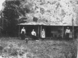 Picture relating to Tully - titled 'Henry family at Bellenden homestead in the Tully District about 1898'