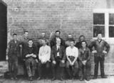 Picture relating to Mount Crosby - titled 'Group of engineers and maintenance workers at the Mount Crosby Pumping Station, ca. 1918'
