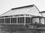 Picture relating to Black Mountain - titled 'CSIR Insectarium under construction, Clunies Ross Street, Black Mountain.'