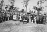 Picture of / about 'Cordalba' Queensland - Hon. W. T. Paget turning the first sod of the Cordalba to Dallarnil railway extension, 1910