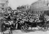 Picture relating to Brisbane - titled 'School children singing at Federation Celebrations Brisbane, Queensland, 1901'