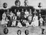 Picture relating to Bingera - titled 'Golden wedding anniversary of Angus and Catherine Gibson, at Bingera, 1916'