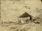 Picture relating to Inkerman - titled 'Inkerman sawmill, ca. 1885'