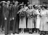 Picture relating to Queensland - titled 'Josie O'Flaherty and Bob (Marshal? or Marten?) on their wedding day, ca. 1930s'