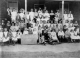 Picture relating to Moore - titled 'Children and teachers from Moore State School, Queensland, 1907'