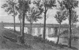 Picture relating to Bremer River - titled 'Sketch of the railway bridge over the Bremer River on the Ipswich line, ca. 1866'