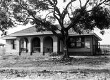 Picture relating to Parkes - titled 'Oakley and Parkes cottage, National Circuit, Forrest.'
