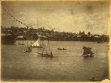 Picture relating to Brisbane River - titled 'Regatta on the Brisbane River, 1883'