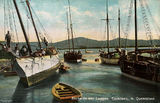 Picture relating to Cooktown - titled 'Beche-de-mer luggers, Cooktown, North Queensland, ca. 1906'