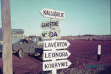 Picture relating to Menzies - titled 'Crossroads - Menzies, WA in 1969'