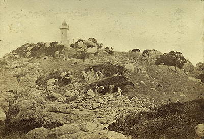 Picture of / about 'Port Denison' Queensland - Stone Island Lighthouse in Bowen Harbour, 1876