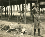Picture relating to Murray Island - titled 'Ceremonial rite of the dead, Papua New Guinea, ca. 1923'