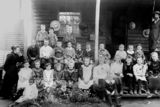 Picture relating to Gin Gin - titled 'Students and teachers of Gin Gin State School, ca. 1897'