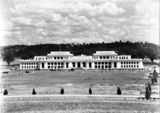 Picture relating to Parliament House - titled 'Old Parliament House and Parkes Place from the North'