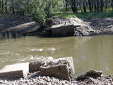 Picture relating to Murray River - titled 'Old Police bridge to Snake island'