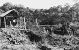 Picture relating to Buderim - titled 'Water wheel on George Burrows' property near Buderim, ca.1917'