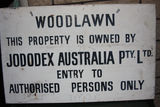 Picture relating to Woodlawn Mine - titled 'Jododex sign'