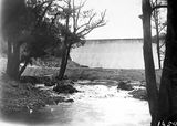 Picture relating to Cotter Dam - titled 'Cotter Dam wall from downstream'
