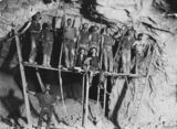 Picture of / about 'Gympie' Queensland - Miners working in a gold mine at Gympie, Queensland